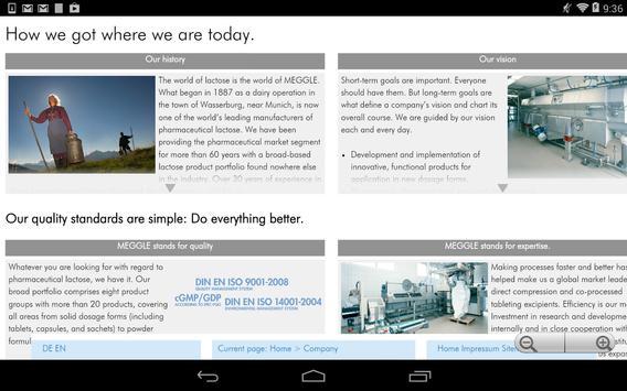 MEGGLE Excipients & Technology apk screenshot