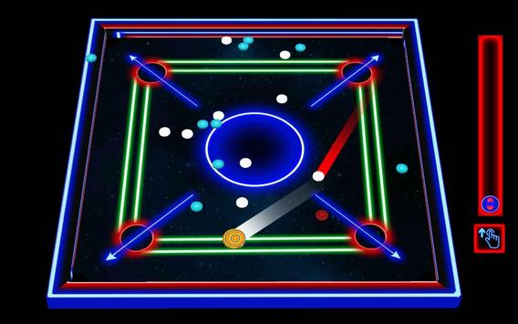 Laser Carrom: Real Carrom Pro screenshot 1