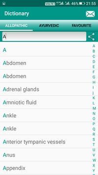 Ayurvedic Allopathic Dictionary screenshot 1