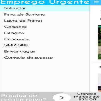 Emprego Urgente BA apk screenshot