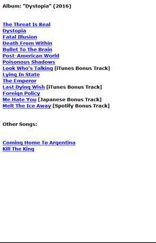 Megadeth Lyrics apk screenshot
