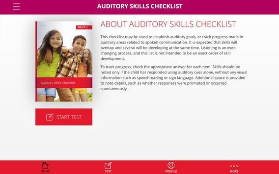 Auditory Skills Checklist poster