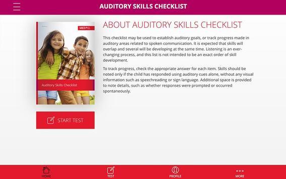 Auditory Skills Checklist screenshot 2