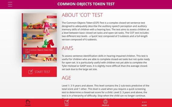 COT Test poster