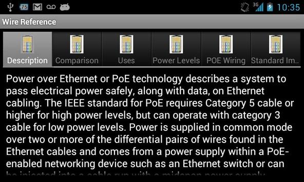 Wire Reference apk screenshot