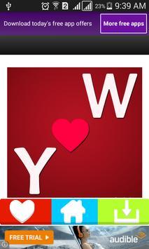 حرفك مع حرف حبيبك في صورة apk screenshot