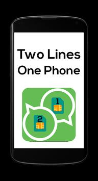 2 Lines For WhatsApp Simulator poster