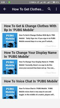 Guide PUBG Mobile screenshot 1