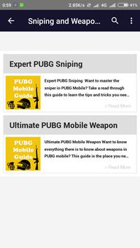 Guide PUBG Mobile screenshot 3