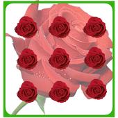 Pattern Lock Theme Red Rose icon