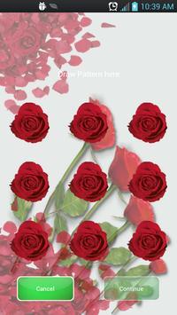 Pattern Lock Theme Red Rose poster