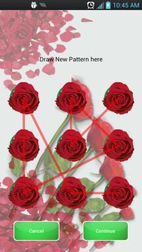 Pattern Lock Theme Red Rose screenshot 2