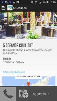 5 océanos | Chillout & Sushi poster