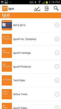 igus SalesKit from Mediafly apk screenshot