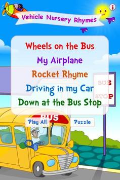 Vehicle Nursery Rhymes poster