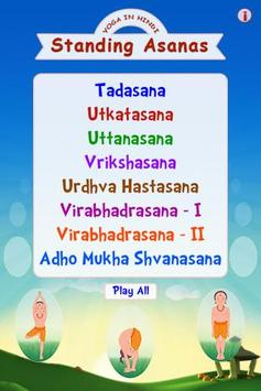 Standing Asanas In Hindi poster