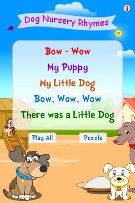 Dog Nursery Rhymes الملصق