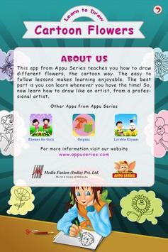 Learn To Draw Cartoon Flowers apk screenshot
