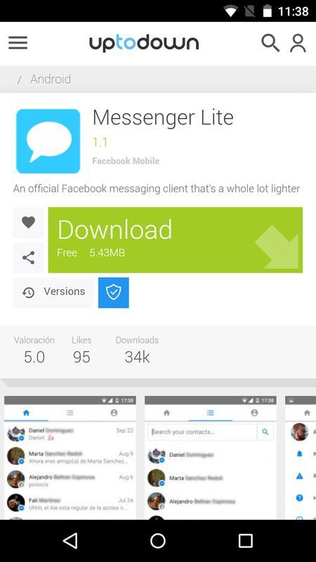 download facebook lite uptodown
