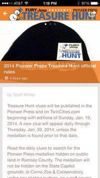 Pioneer Press Treasure Hunt apk screenshot