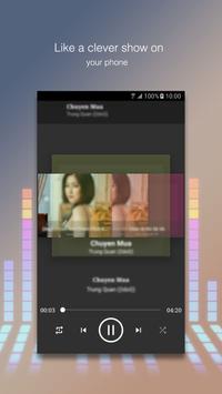 Music Player with lyrics poster