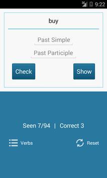 Irregular English Verbs apk screenshot