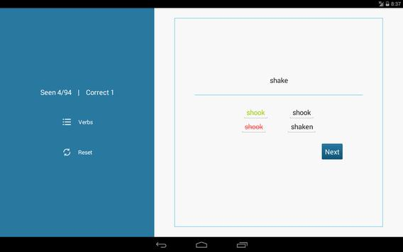 Irregular English Verbs screenshot 2