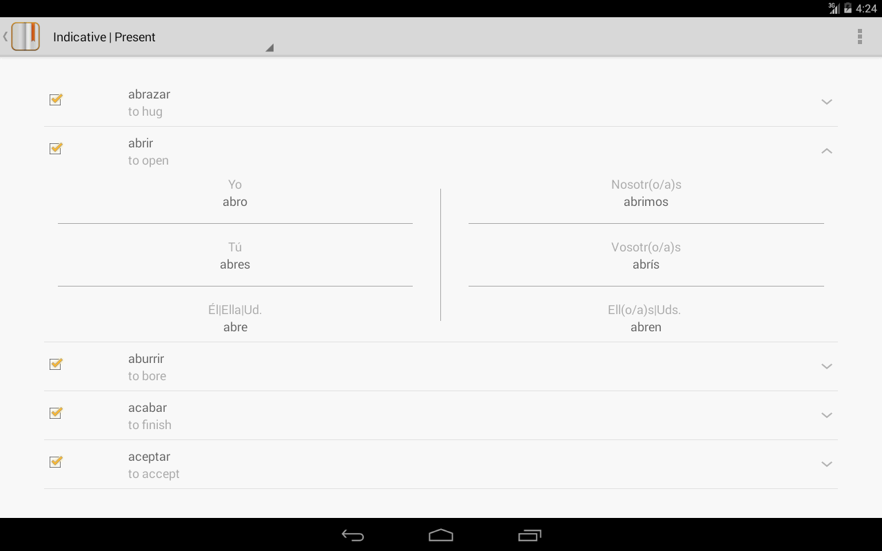 72c334687157 Spanish Verbs Conjugations for Android - APK Download