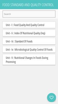 FOOD STANDARD AND QUALITY CONTROL poster
