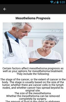 Mesothelioma Prognosis Symptom screenshot 1