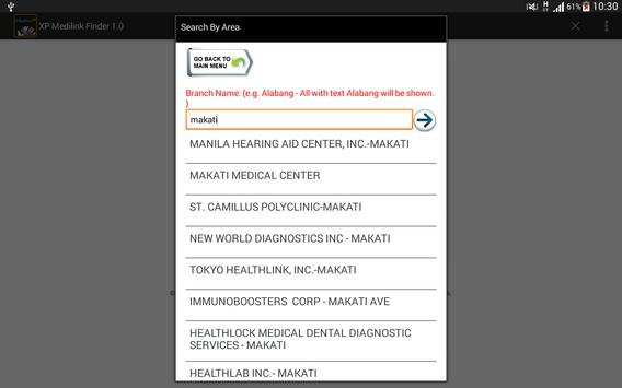 MediLink XP Finder apk screenshot