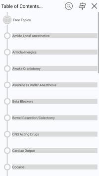 5 Minute Anesthesia Consult - 480 Distinct Topics apk screenshot