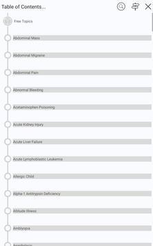 5 Minute Pediatric Consult - 500+ essential topics apk screenshot