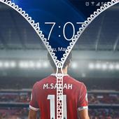 Mohamed Salah Zipper Lock Screen icon