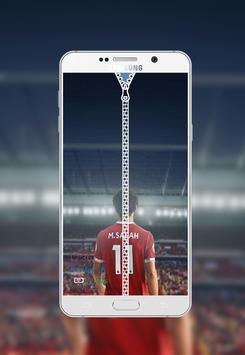 Mohamed Salah Zipper Lock Screen poster