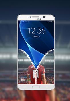 Mohamed Salah Zipper Lock Screen screenshot 2