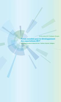 World Export Development Forum 2017 poster