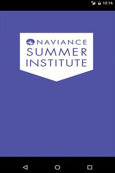 Naviance Summer Institute 2016 poster