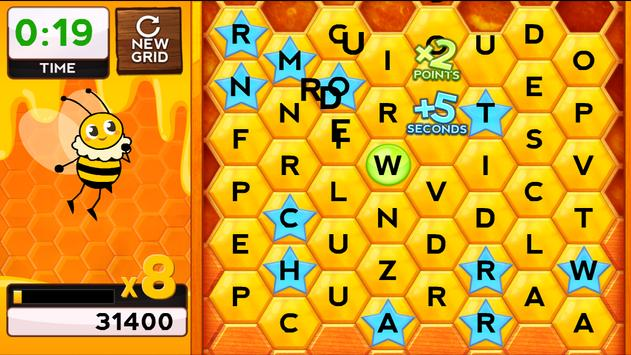 Words with Bees HD FREE apk screenshot