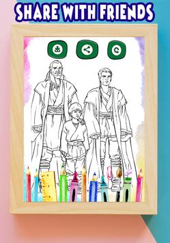 How To Color Star Wars Adult Coloring Pages apk screenshot