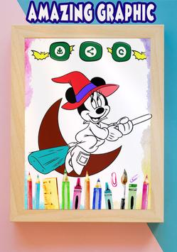 How to color Minnie Mouse coloring book for adult screenshot 3
