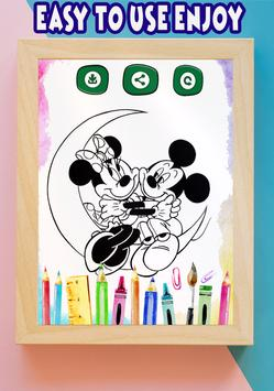 How to color Minnie Mouse coloring book for adult poster