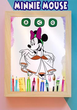How to color Minnie Mouse coloring book for adult screenshot 2