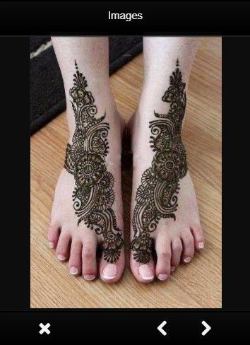 Mehndi Simple Designs For Foot poster
