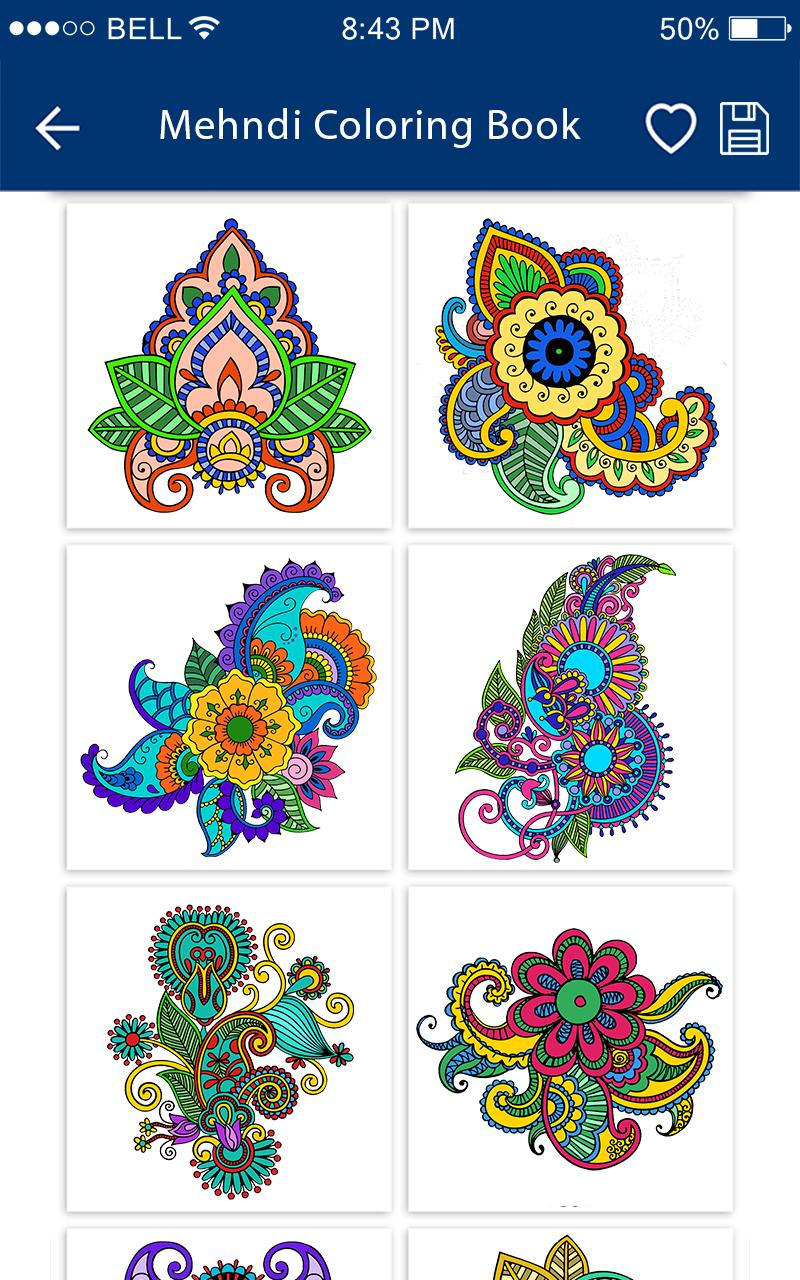 Mehandi Designs Mehandi Colouring Book For Android Apk