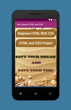 Full Course HTML and CSS apk screenshot
