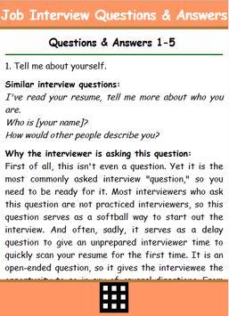 Best Job Interview Q & A apk screenshot