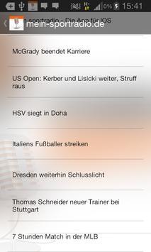 meinsportradio.de screenshot 2