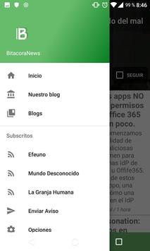 Bitacora News - Los mejores blogs a un click screenshot 1