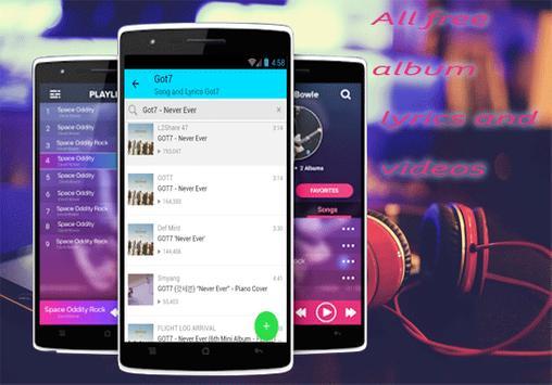 Got7 - Never Ever  Song and Lyrics 노래와 가사 apk screenshot